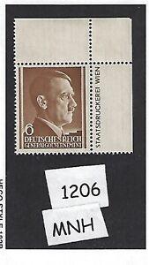 #1206 Neuf Sans Charnière 1941 Timbre 6 G/adolph Hitler/occupied Poland/troisième Reich-afficher Le Titre D'origine Brillant