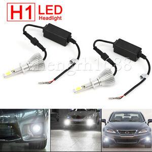 set-of-H1-LED-Light-Headlight-Vehicle-Car-Lamps-Beam-Bulb-Kit-6000k-White-60W