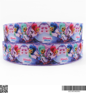 """25mm Shimmer and Shine Ribbon 1/"""" Wide 1m is £1.29 NEW UK SELLER FREE P/&P"""