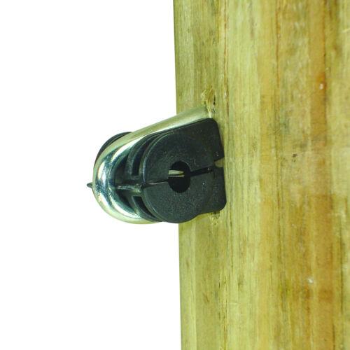 Staple on Clamp Insulator Black Wire Field Guardian Wood Post 50//pk