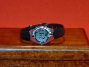 Pre-Owned-Women-s-Black-amp-Silver-Armitron-45-6963-Digital-Watch