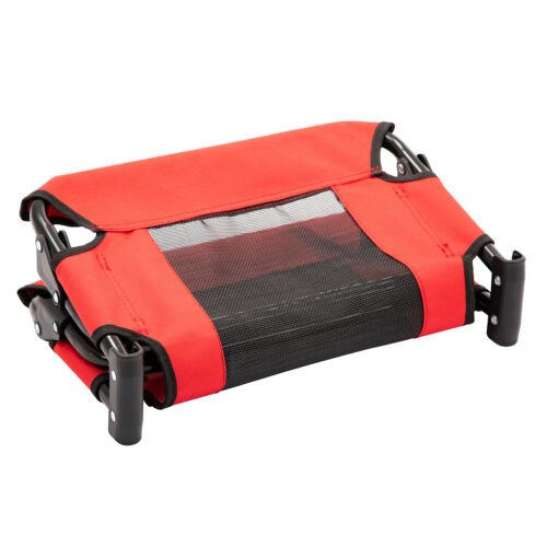 Pet Elevated Cot Dog Bed Hammock Indoor Outdoor Camp Lounger Sleeper Steel Frame