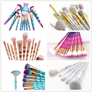 Maquillage-diamant-Licorne-pinceau-sirene-fard-a-paupieres-poudre-brosses