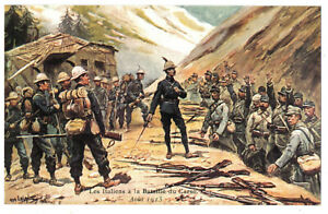CPA-Militaria-Les-Italiens-a-la-Bataille-du-Carso-Aout-1915-illustration