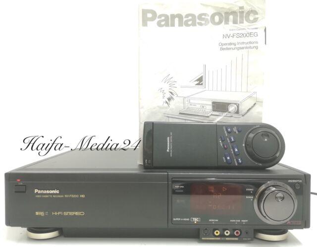 Panasonic NV-FS200 HighEnd SVHS Recorder / S-VHS Videorecorder TBC 1 Jahr Gewähr