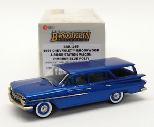 Brooklin-escala-1-43-BRK145-1959-Chevrolet-Brookwood-4-Dr-STN-Vagon-Harbor-Azul