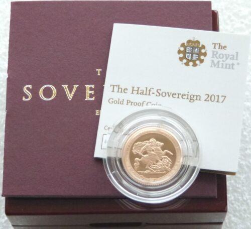 2017 Great Britain Pistrucci Gold Proof Half Sovereign Coin Set Box Coa
