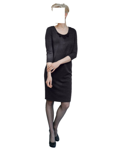 Gr Dress Anthracite Application Marques 42 1217918664 Jersey l'encolure gXx5gESw