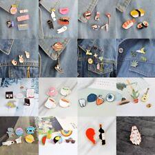 Cute Cartoon Piercing Brooch Pin Enamel Collar Badge Corsage Women Gift Decor