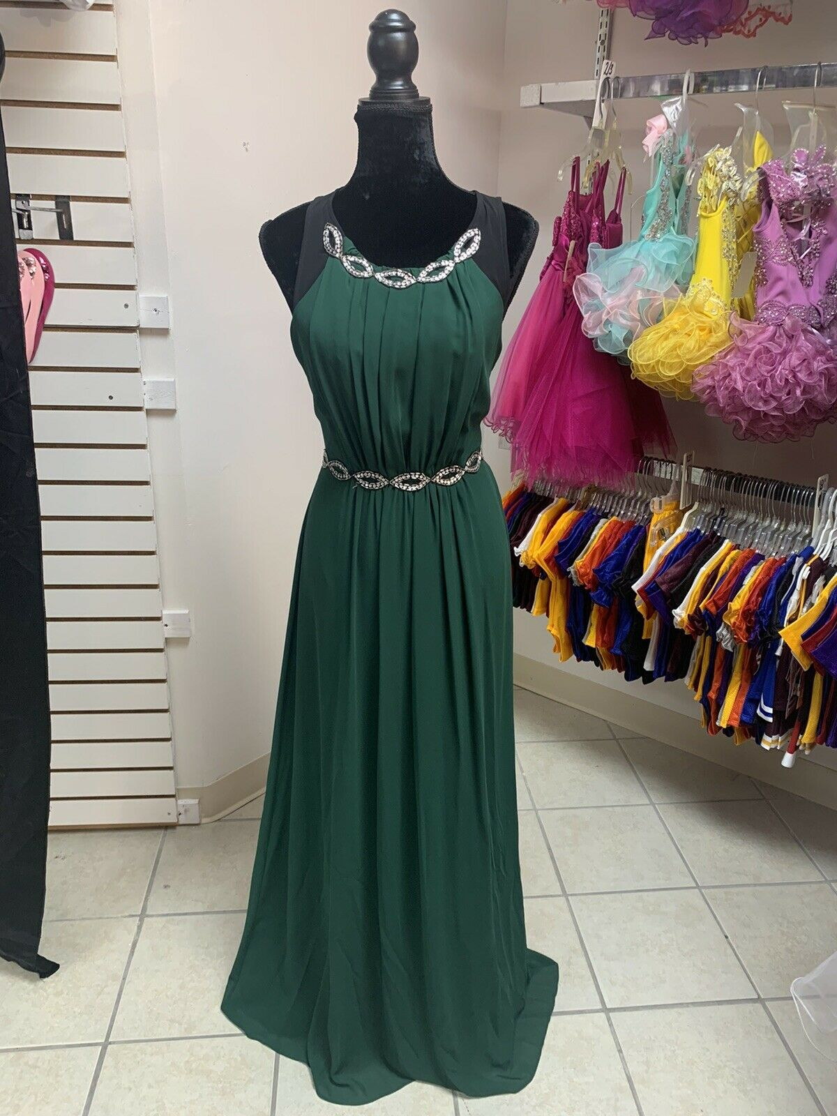 Size 10 Green Prom Party Homecoming Dance Pageant Formal evening Gown Dress