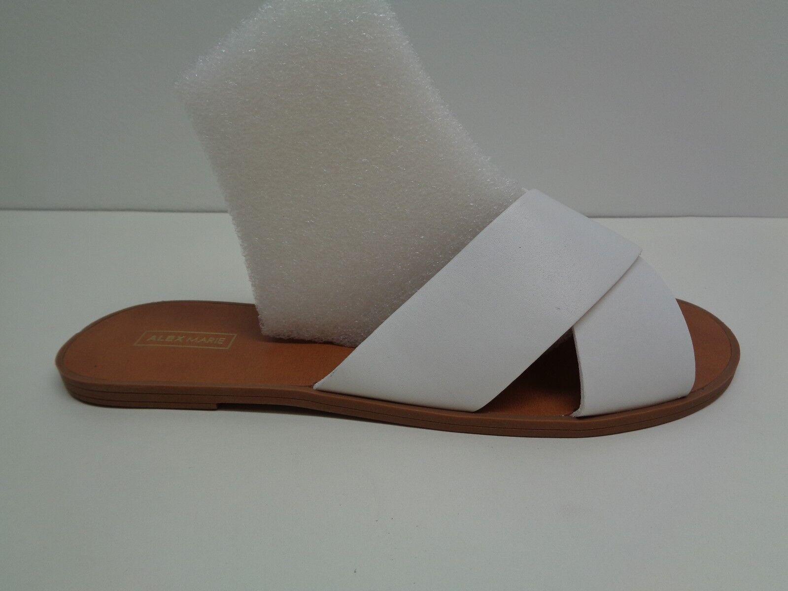 Alex Marie Größe 9 M KALYN WEISS Leder Crisscross Sandales NEU Damenschuhe Schuhes