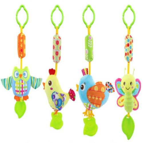 Baby Infant Rattles Plush Animal Stroller Hanging Bell Play Toy Doll Soft Bed BL