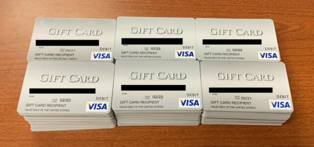 A Lot of 50 Empty Debit Gift Cards - No balance.