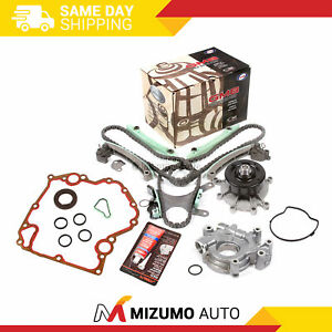 Timing-Chain-Kit-w-o-Gears-Water-Oil-Pump-Gasket-Fit-99-08-Jeep-Dodge-Chrysler