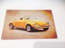 VOLKSWAGEN CAMPER VAN Bug/Beatle GARAGE VW Wall Decor Vintage Sign Tin Plaque