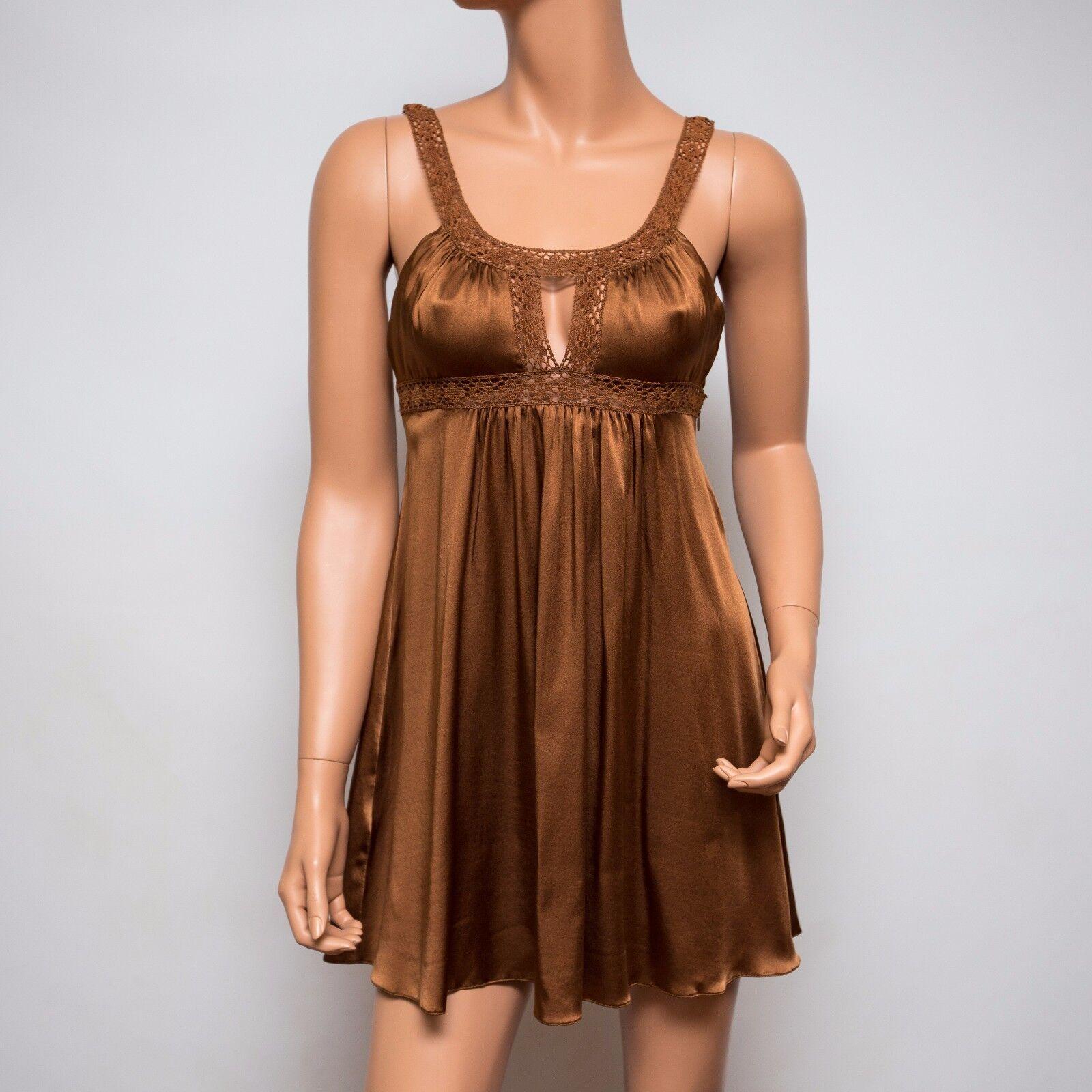 NWT NWT NWT Ingwa Melero Dulce Charmeuse Silk Bella Dress 61 CBD  280 XS 89d185