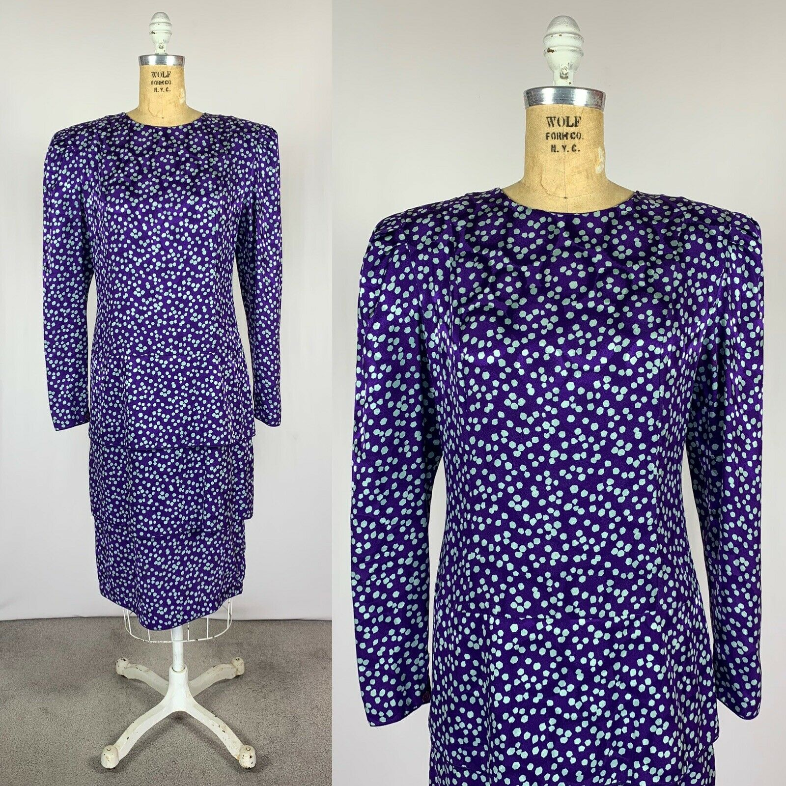 Vintage Maggy London Jeannene Booher Jacquard Sil… - image 2