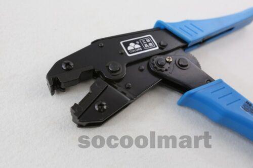 New HS-05FL Flag Type Receptacles Ratchet Crimper Plier AWG 4.8mm