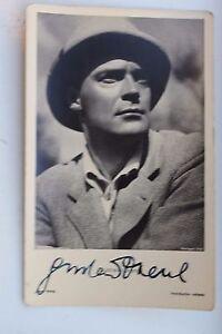 29019 Autografo Foto Ak Gustav Diessl Ross Editore No. 9237 Del 1935 Autografata