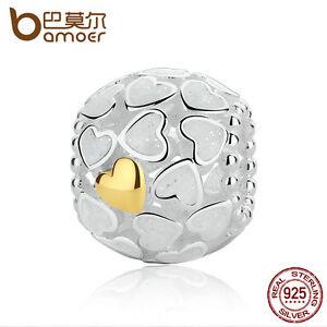 Bamoer-Authentic-925-Sterling-Silver-Heart-Love-Charm-Silver-Enamel-Fit-Bracelet