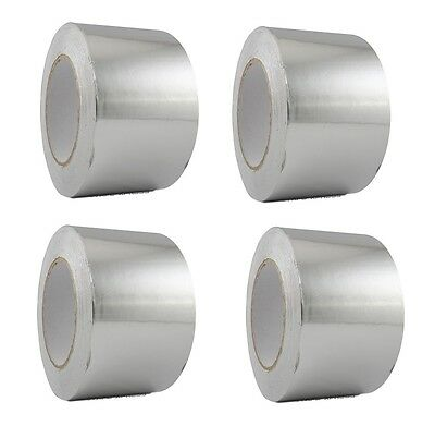 """Malleable Foil Free Shipping 4 Rolls Aluminum Foil Tape 3/"""" x 150/' With Liner"""