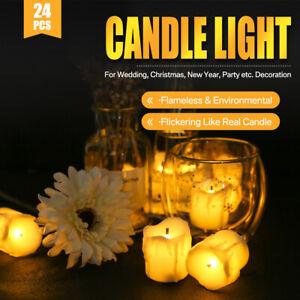 24-PEZZI-CANDELE-LUMINI-LED-senza-fiamma-CANDELINE-Lume-di-candela-Tremolante