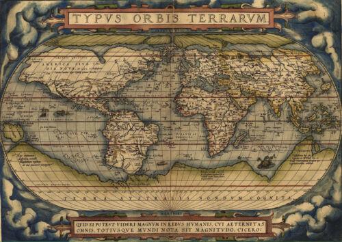 WORLD MAP.N°4. 1 FREE//1 GRATUIT POSTER A4 PLASTIFIE-LAMINATED * CARTE DU MONDE