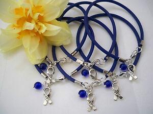 6 Ct Colon Cancer Awareness Child Abuse Prevention Rubber Bracelets Ebay