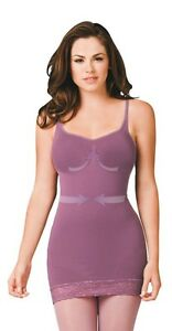 Full-Slip-Dress-Tummy-Control-Body-Shaper-Waist-Back-Sides-Adjustable-Strap-2493