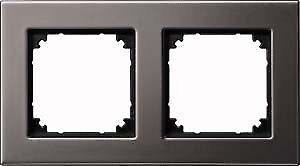 Merten Metallrahmen M-Plan 2fach 475214 Rhodiumgrau | Sale Online Shop