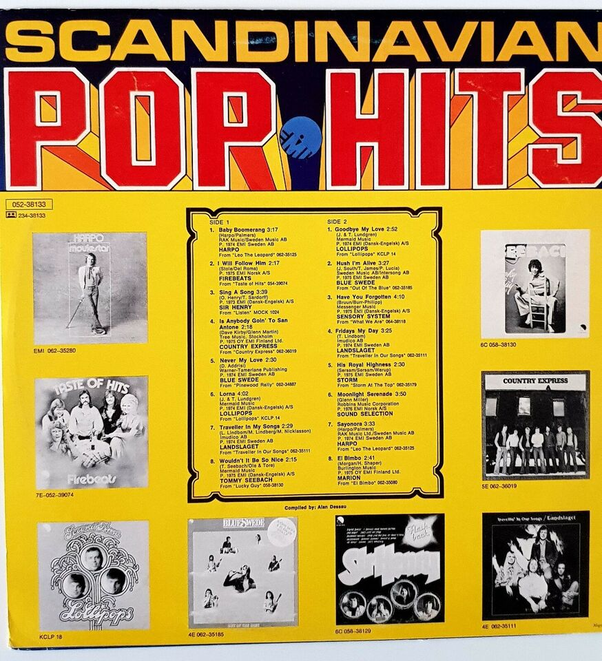 LP, Various, Scandinavian Pop Hits