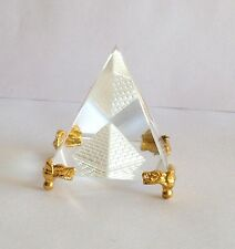 Transparent Crystal Pyramid Smaller Feng Shui for Prosperity and Positive Energy