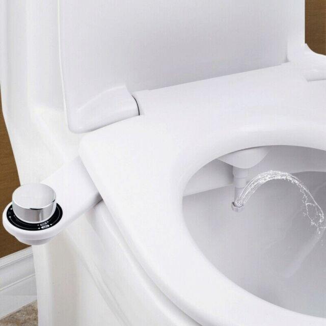 Luxe Bidet Neo 110 Fresh Water Non-Electric Mechanical Bidet Toilet Seat Attachment white and white