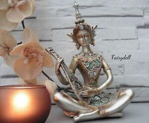 Zen Meditating Monk 14cm Resin