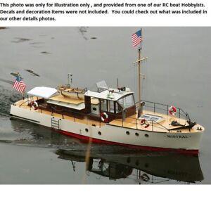 Radio-Control-Modelo-Mistral-yate-a-motor-de-barco-FRP-casco-y-Kit-de-barco-de-madera-contrachapada