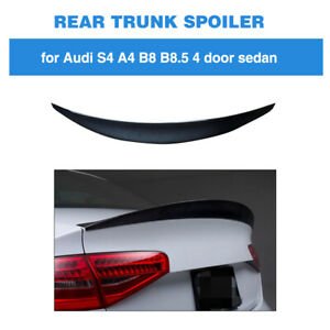For AUDI A4 B8.5//S4 13-16 Rear Trunk Boot Lid Spoiler Wing Carbon Fiber S Style