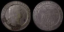 pci779) Napoli regno Ferdinando IV grana 120 piastra 1805 - UNCLEANED