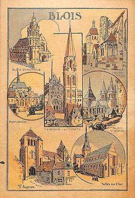 Bereidwillig Blois Pontlevoy Vendome St Aignan Selle-sur-cher Illustration 1933 Non-Strijkservice