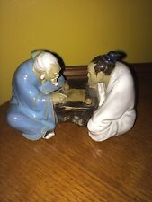Asian Art Mudmen Playing Game Figurine Chinese Statue Mudman Shiwan Pottery