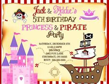 10 personalized pirate ship birthday party invitations ebay item 6 princess and pirate birthday party invitation any colors add photo princess and pirate birthday party invitation any colors add photo filmwisefo Choice Image