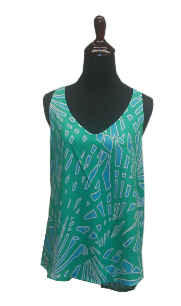 Escapada Ladies Palm Turquoise Miami Renee Criss Cross Summer Top
