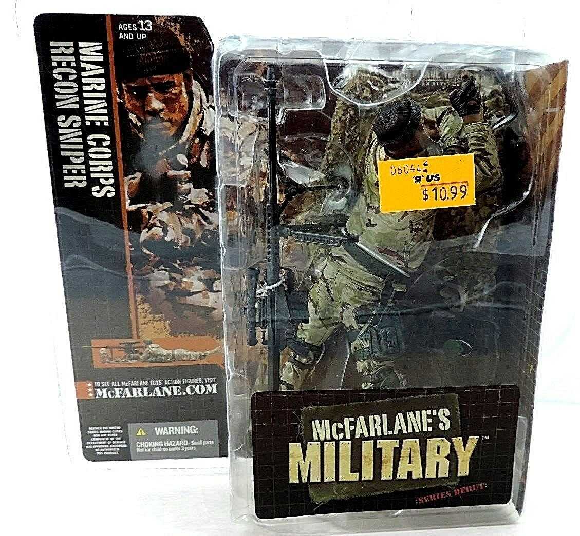 McFarlane Soldiers Series Debut Marine Corps Recon Sniper (African American) New