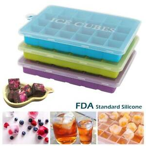 1-3Pcs-Ice-Cube-Tray-Mould-Silicone-Plastic-Lid-Freezer-Maker-Kitchen-24-Slot