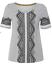 NEW White Stuff Nevai Embroidered Black /& White Jersey Tee Pretty Top Now £15
