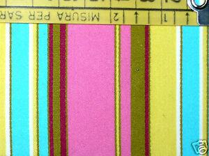 Rosa E Fucsia Nice Tessuto Cotone Elasticiz Marroni 535 Azzurre A Righe Gialle