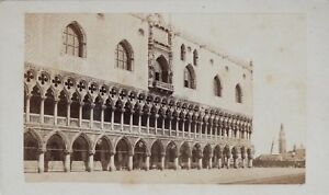 Carlo-Ponti-Palais-Doge-Venezia-Italia-CDV-Foto-Vintage-Albumina-c1860-5