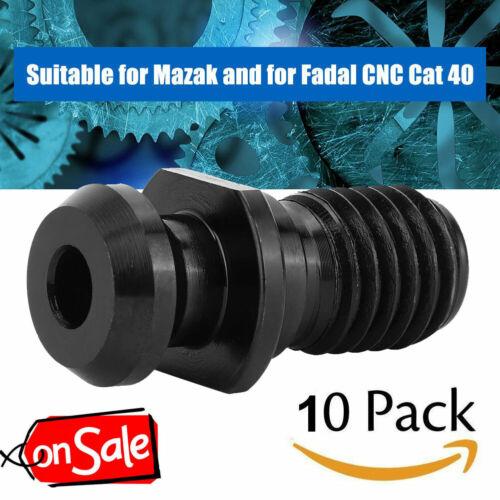"""/""""Hot/"""" 10Pcs//Set Steel Cat 40 Pull Stud Retention Knob Fits Mazak Fadal CNC Black"""