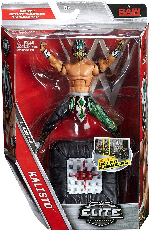 WWE KALISTO ELITE WRESTLING FIGURE SERIES 48 LUCHA DRAGON LUCHADOR OCTAGON