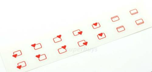 Heart Shape 4 /& 5 Hob Adhesive Oven Stove Dial Plate Grill Switch Sticker Labels
