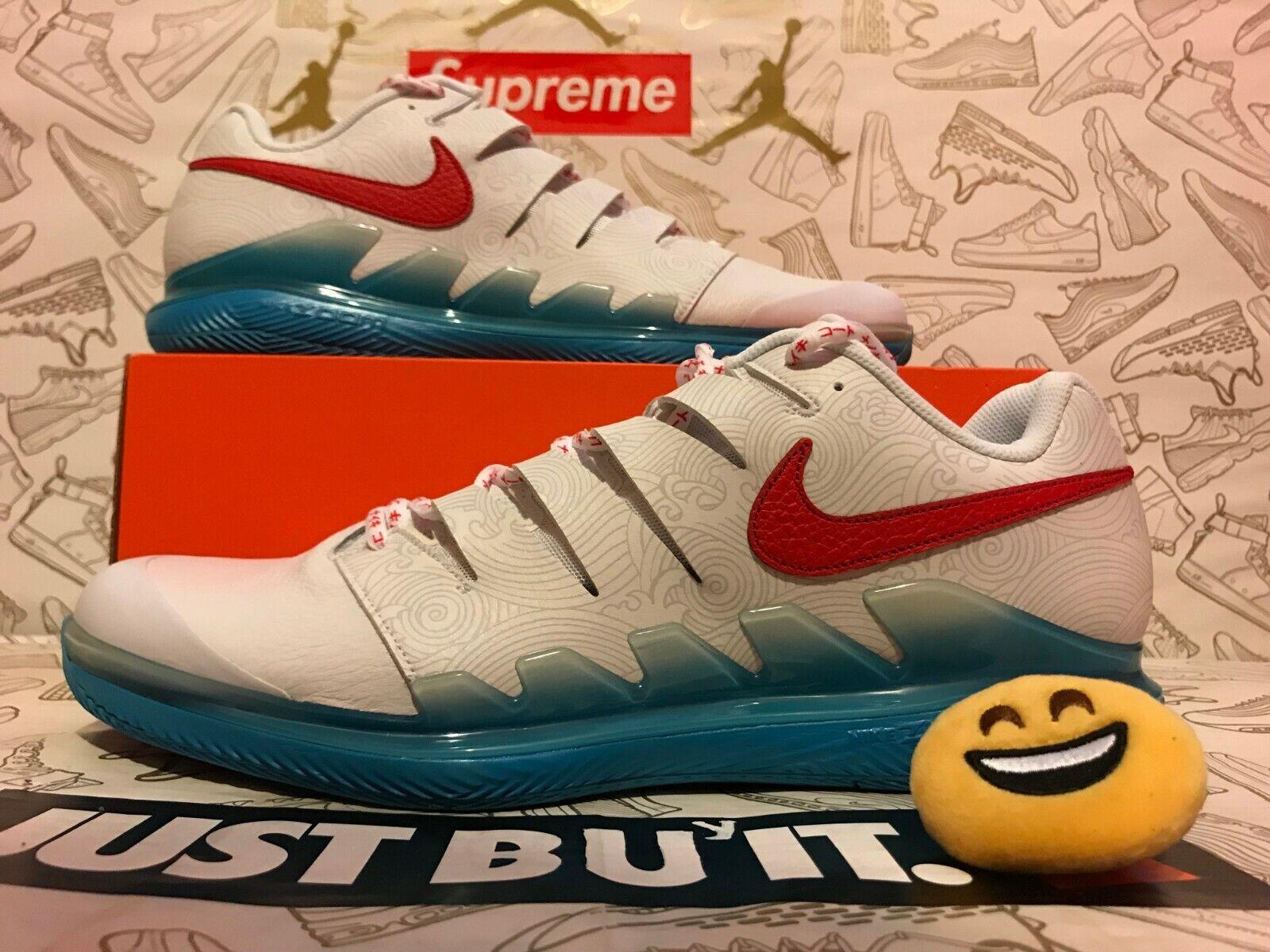 Men's Nike Air Zoom Vapor X Leather Nishikori Tennis shoes. BQ5138-164 Size 7